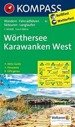 Worthersee, Karawanken West nr 61. Mapa turyst.