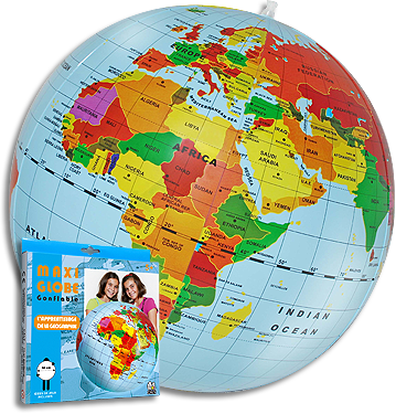 globus polityczny dmuchany 50 cm globusy globobary i inne globusy du e 42 50 cm. Black Bedroom Furniture Sets. Home Design Ideas