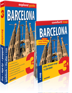Barcelona 3 w 1. Guidebook + city atlas + map