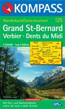 Grand St-Bernard, Verbier, Dents du Midi, nr 125.