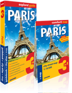 Paris 3 in 1. Guidebook + city atlas + map