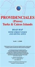 Providenciales. Turks and Caicos Islands. Mapa sam