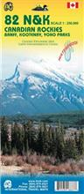 Canadian Rockies: Banff, Kootenay, Yoho Parks. Map