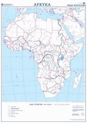 Afryka Mapa Scienna Polityczna Konturowa Mapy Scienne