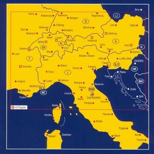 Alpy Mapa Samochodowa 1 750 000 Mapy I Atlasy Samochodowe