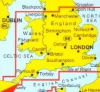 Anglia Poludniowa Walia Mapa Samochodowa 1 300 000 Mapy I