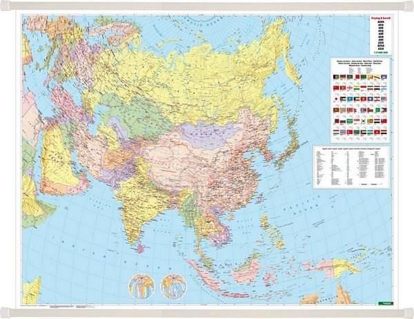 Azja Mapa Scienna Polityczna 1 9 000 00 Mapy Scienne