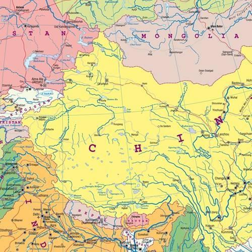 Azja Fizyczna Polityczna Mapa Scienna 1 22 000 Mapy Scienne