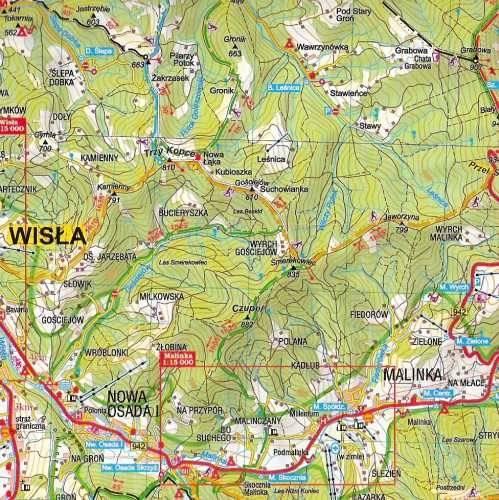 Beskid Slaski Wisla I Szczyrk Mapa Turystyczna Mapy I Atlasy