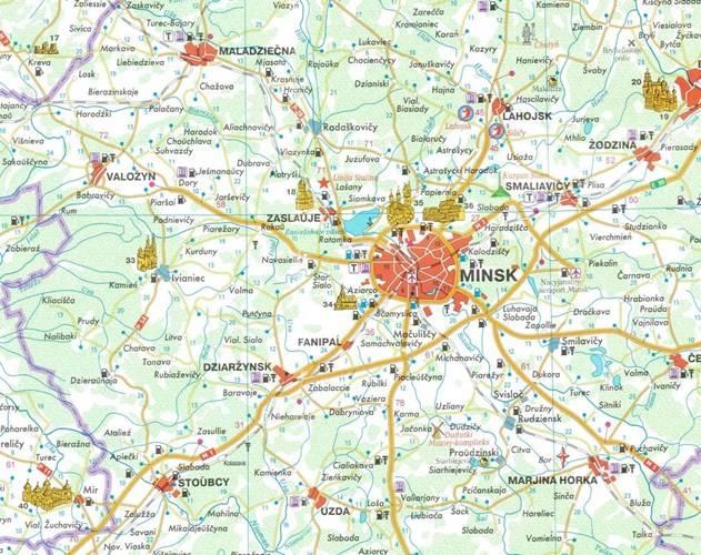 Bialorus Mapa Turystyczna 1 800 000 Mapy I Atlasy Samochodowe