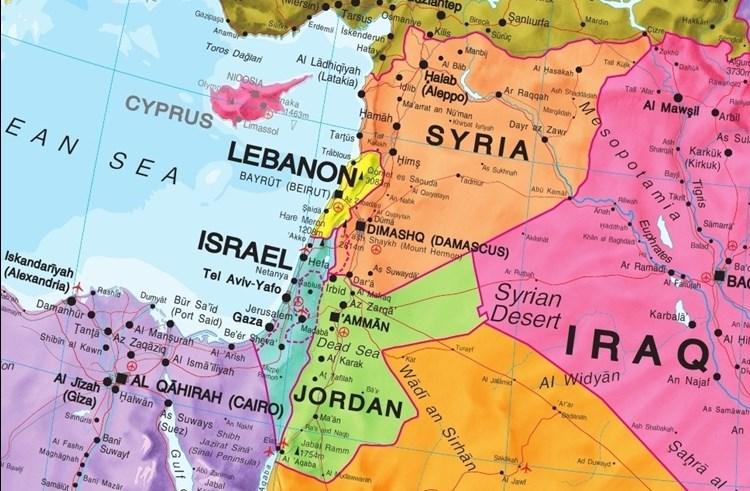 Bliski Wschod Polityczna Mapa Scienna 1 4 350 000 Mapy Scienne