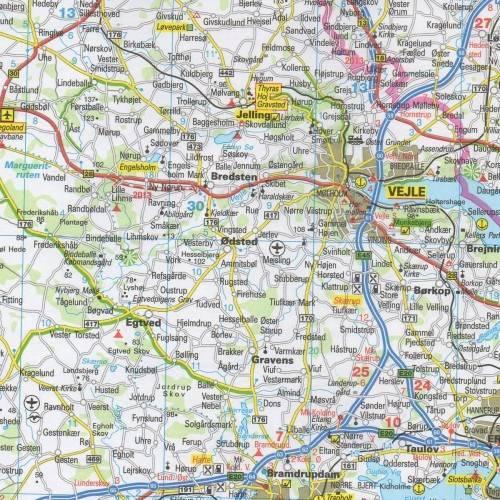 Dania Mapa Samochodowa 1 300 000 Mapy I Atlasy Samochodowe