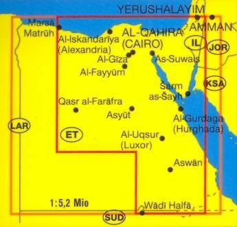 Egipt Mapa Samochodowa 1 1 000 000 Mapy I Atlasy Samochodowe