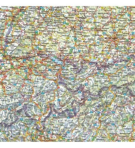 Europa Srodkowa Mapa Samochodowa 1 2 000 000 Mapy I Atlasy