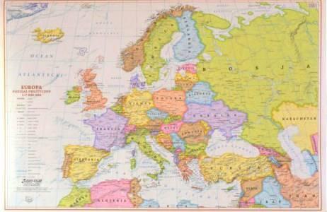 Europa Polityczna Mapa Scienna Do Wpinania 1 7 Mapy Scienne