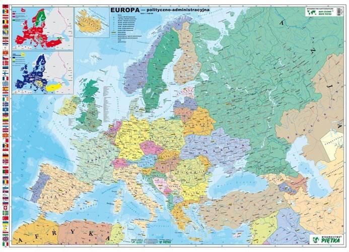 Europa Polityczno Administracyjna Mapa Scienna Mapy Scienne