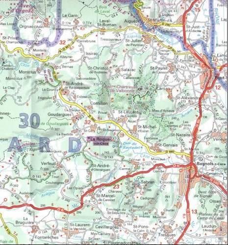 Francja Nr 130 Masyw Centralny Mapa Samochodowa Mapy I Atlasy