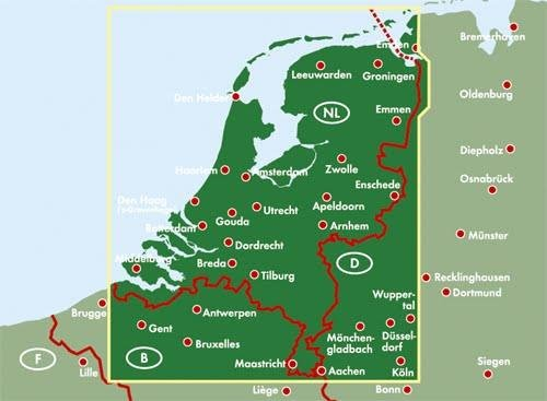 Holandia Mapa Samochodowa 1 300 000 Mapy I Atlasy Samochodowe