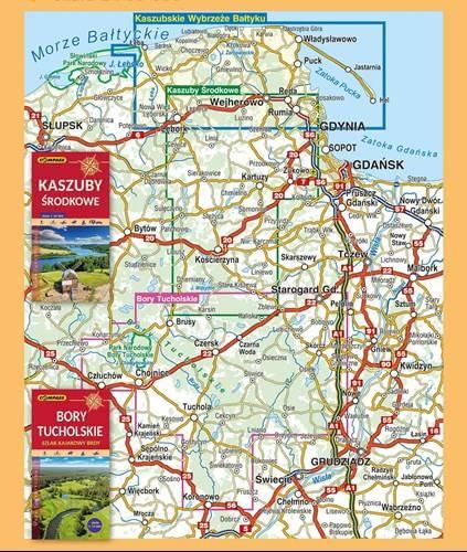 Rewelacyjny Kaszubskie wybrzeże Bałtyku. Mapa turystyczna | Mapy i Atlasy FL48