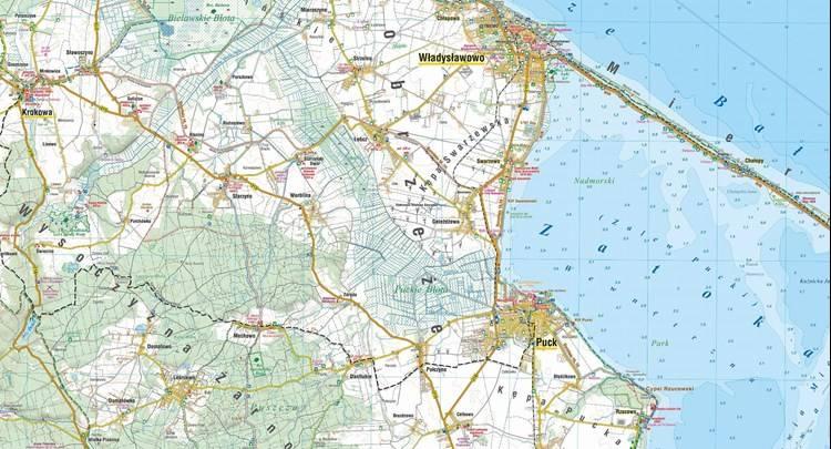 Kaszubskie Wybrzeze Baltyku Mapa Turystyczna Mapy I Atlasy
