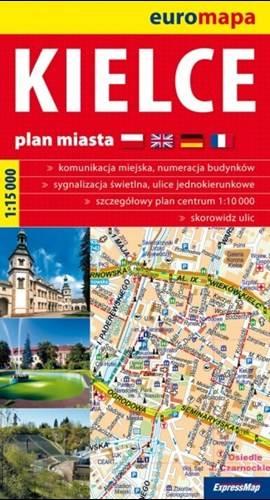 Kielce Plan Miasta 1 15 000 Mapy I Atlasy Plany Miast Europa