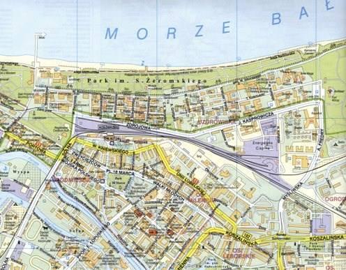 Kolobrzeg Ustronie Morskie Plan Miasta 1 11 000 Mapy I Atlasy