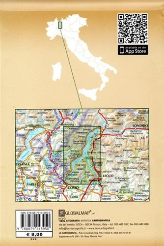 Mapa Lago Di Como.Lago Di Como Jezioro Como Mapa Turystyczna 1 35 000