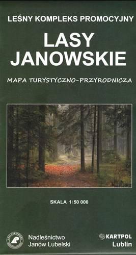 1ac85fd5d242f4 Lasy Janowskie. Mapa turystyczna 1:50 000 | Mapy i Atlasy ...