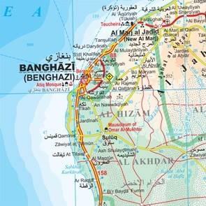 Libia Geograficzna Mapa Samochodowa 1 1 750 000 Mapy I Atlasy