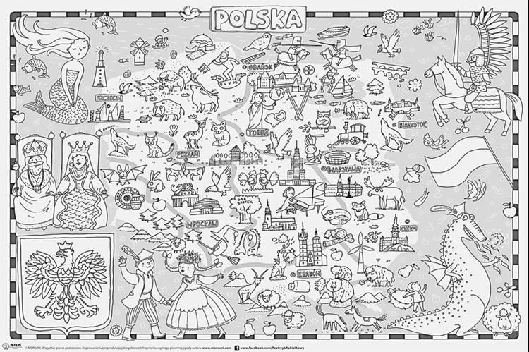 Mapy Do Kolorowania Z Kredkami Dookoła świata Literatura Dla