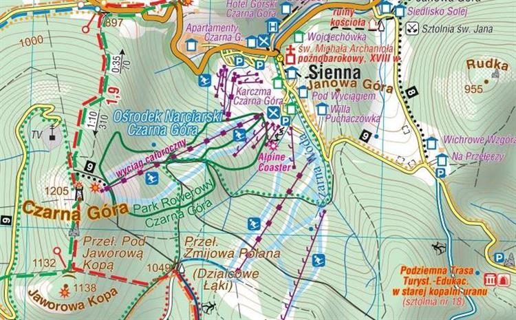 Masyw Snieznika Gory Bialskie Foliowana Mapa Tur Mapy I Atlasy