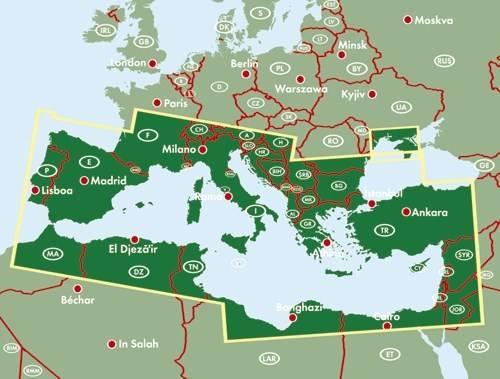 Morze Srodziemne Rejsy Mapa Turystyczna Mapy I Atlasy