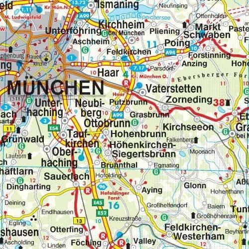 Niemcy Mapa Samochodowa 1 700 000 Mapy I Atlasy Samochodowe
