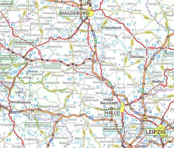 Niemcy Mapa Samochodowa 1 750 000 Mapy I Atlasy Samochodowe