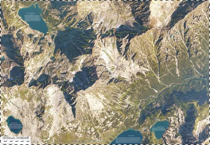f4970ebde7858 Orla Perć. Satelitarna mapa turystyczna 1:2 860   Mapy i Atlasy ...