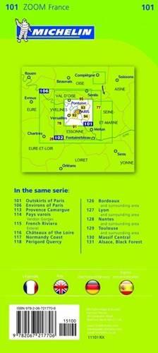 Paryz Samochodowa Mapa Aglomeracji 1 53 000 Mapy I Atlasy