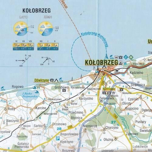 Pobrzeze Baltyku Mapa Turystyczna 1 200 000 Mapy I Atlasy