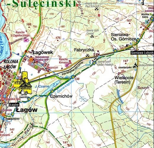 Pojezierze Lagowskie I Rownina Torzymska Mapa Tur Mapy I Atlasy