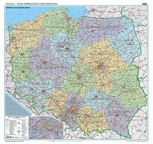 Polska Administracyjno Drogowa Mapa Scienna Mapy Scienne