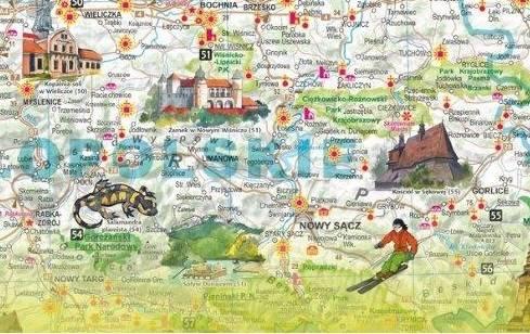 Polska Atrakcje Turystyczne Mapa Scienna 1 685 0 Mapy Scienne