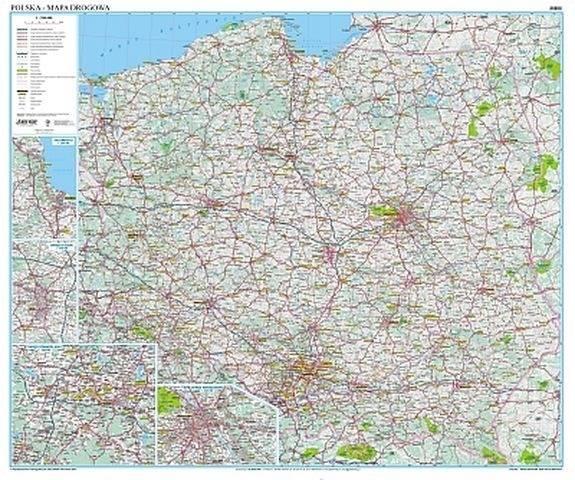 Polska Drogowa Mapa Scienna 1 700 000 Mapy Scienne Polska