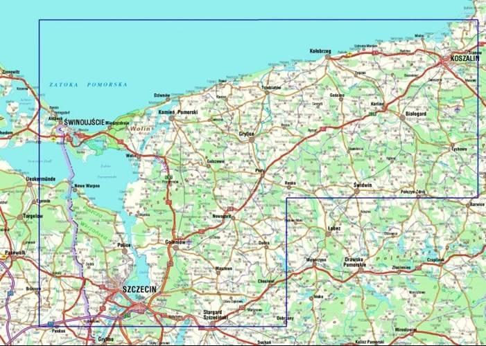 Pomorze Zachodnie Mapa Turystyczna 1 160 000 Mapy I Atlasy
