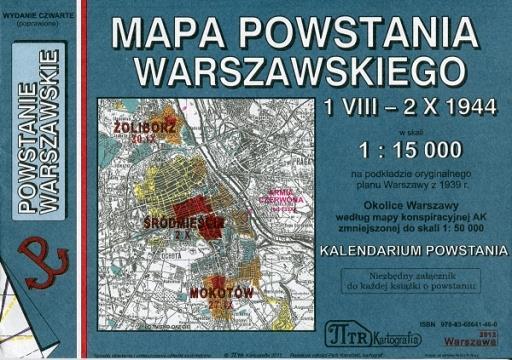 Powstanie Warszawskie 1 Viii 2 X 1944 Mapa Hist Mapy I Atlasy