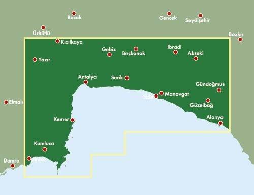 Riwiera Turecka Antalya Side Alanya Mapa Sam Mapy I Atlasy