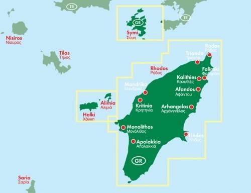 Rodos Mapa Samochodowa 1 50 000 Mapy I Atlasy Samochodowe