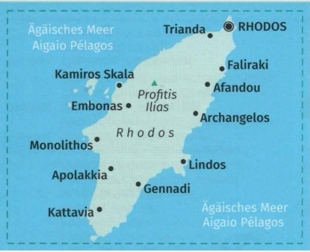 Rodos Nr 248 Laminowana Mapa Turystyczna 1 50 000 Mapy I Atlasy