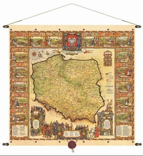 Rzeczpospolita Polska Mapa Scienna 98 X 92 Cm Mapy Scienne