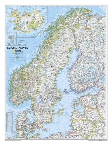 Skandynawia Polityczna Classic Mapa Scienna Do Wpinania 1 2