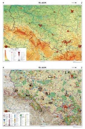 Slask Mapa Scienna Ogolnogeograficzna Krajobrazow Mapy Scienne