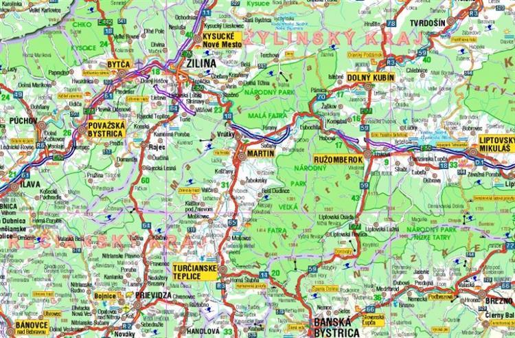 Slowacja Mapa Samochodowa 1 500 000 Mapy I Atlasy Samochodowe